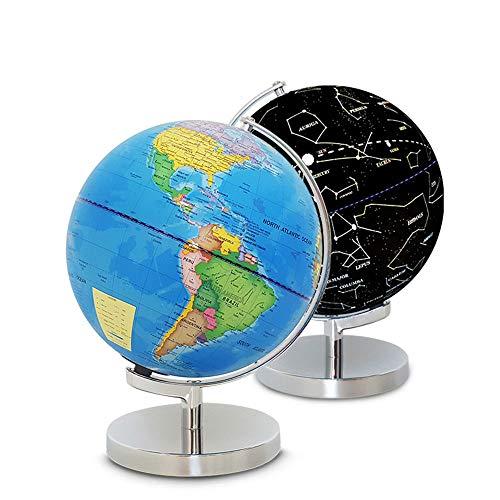 Globe Für Geschenk Home Office Schreibtisch Dekoration Beleuchtete Weltkugel 2 In 1 Globus Erde Und Konstellationen Eingebaute LED Für Beleuchtete Nachtsicht 10-Zoll Pädagogische Weltkugel Pädagogisch