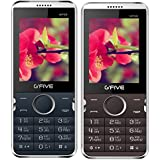 G'Five WP89 BlueGreen+G'Five WP89 Coffee, (Combo Of 2) 2.4 Inch Dual SIM Mobile Phone With 2200 MAh Battery, Bluetooth, Wireless FM, Camera, LED Torch Light, Expandable Memory & 1 Year Manufacturer Warranty