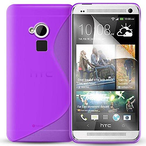 Schutzhülle weich Silikon Gel, Motiv S-Line für HTC One Max/Dual Sim - Max Htc One Sim Dual