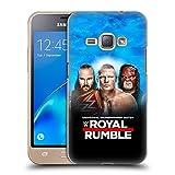 Head Case Designs Offizielle WWE Braun, Brock & Kane 2018 Royal Rumble Ruckseite Hülle für Samsung Galaxy J1 (2016)