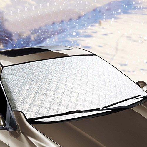 Autoscheibenabdeckung - Winterabdeckung Eisschutz Frostabdeckung Schneeabdeckung Sonnenschutz Sonnenblende Frontscheibe Schneeschutz Windschutzscheiben Abdeckung Anti-Schnee Wind Frost optima für - Registrieren Abdeckung