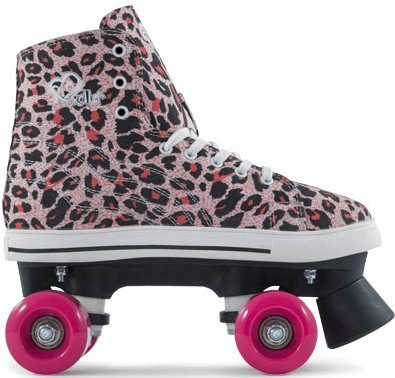 Rio Roller Classic II Leopard Rollschuhe Disco Roller schwarz-pink (leopard)