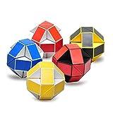 5 serpiente mágica embalado, cambiable y creativo juguetón educativo regla torcedura serpiente cubo mágico cubo de velocidad de cubo