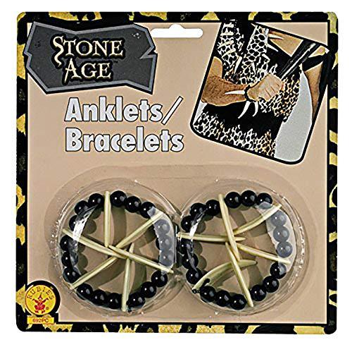Bone Caveman Cavewoman Armbänder oder Fußkettchen Witch Doctor Erwachsene (One Size) ()