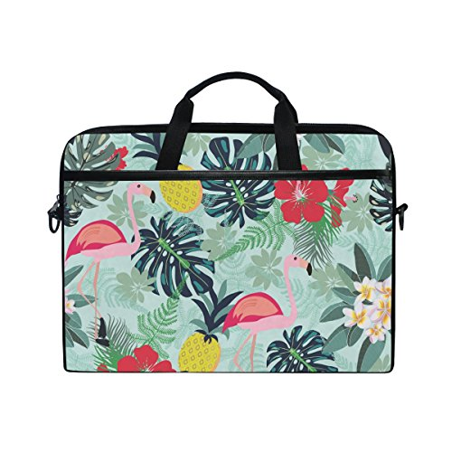 (Ahomy Flamingo Ananas Toucan Monstera Leaf Multifunktions Stoff Wasserdicht Laptop Tasche Aktentasche Schultertasche Messenger Bag)
