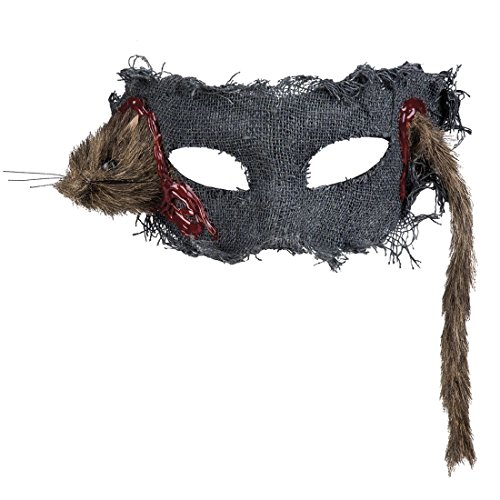 Halloweenia - Halloween Kostüm Augen Maske Ratte Erwachsenen Maske , Mehrfarbig (Schweine Ohren Und Nase Kostüm)