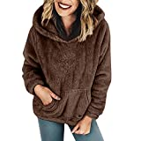 KIMODO Mantel Damen, Jacke Winter Oversize Warme Hoodie Sweatshirt Winterjacke Wintermantel Coats Outwear