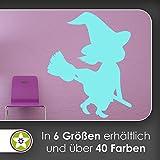 KIWISTAR Hexe Silhouette - Besen Reiten Hut Böse Wandtattoo in 6 Größen - Wandaufkleber Wall Sticker
