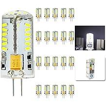 mengjay® 20X CREE caliente venta 57LEDs SMD3014Bombilla Lámpara G4maíz blanco frío AC DC12V 4W SMD 3014LED luz bombilla lámparas 360grados ángulo de haz