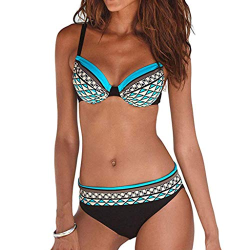 BBestseller Impresión triángulo Sling Push-Up Bikinis Mujer 2019 Cómodo Bohemia Playa al Aire Libre Trajes de baño Mujer