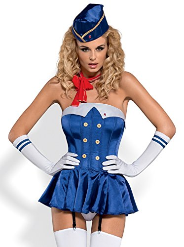 Stewardess Kostüm Set von Obsessive ()