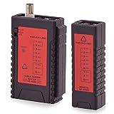 Intratec Netzwerk Kabeltester RJ11 / RJ45 BNC Kabel Netzwerktester - Kabelprüfer Patchkabel Ethernet DSL ISDN