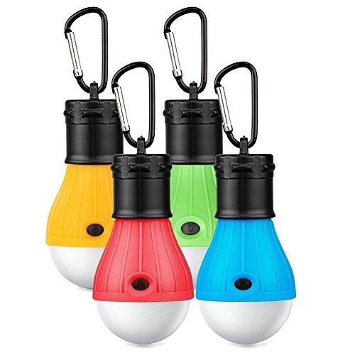 Lampada LED da campeggio, 4 Pezzi esterno LED lanterne da campeggio, portatile Tenda LED lampada, Resistente esterno Tenda Lampada per il campeggio, l'escursionismo, la pesca, il backpacking, le attività di alpinismo
