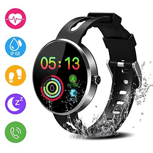 Avatar Controls Fitness Tracker, Wasserdicht IP68 Fitness Sport Armband mit Pulsmesser Aktivitätstracker Anruf SMS Beachten kompatibel mit iPhone Android Handy