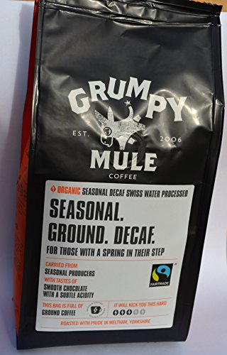 Organic Decaffeinated Coffee – 227g Grumpy Mule
