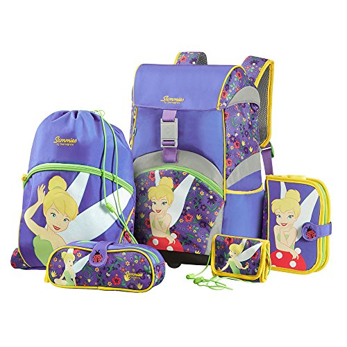 Sammies by Samsonite - Schulranzen Set 5 tlg. - Tinker Bell (Samsonite Luggage Lock Set)