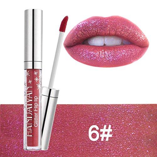Huihong HANDAIYAN  7 Schattierungen  Samt Matte Lippenstift Wasserdicht Lang Anhaltende FlüSsigkeit Kissproof Lipgloss Lippe (Scheinen-F) (Bunte Euro-schein)
