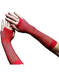 Gants Longs Résille Rouge (Long Fishnet Gloves Red)