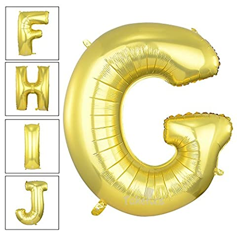 40 Inch Matte Gold Alphabet G Balloon Birthday Party Decorations