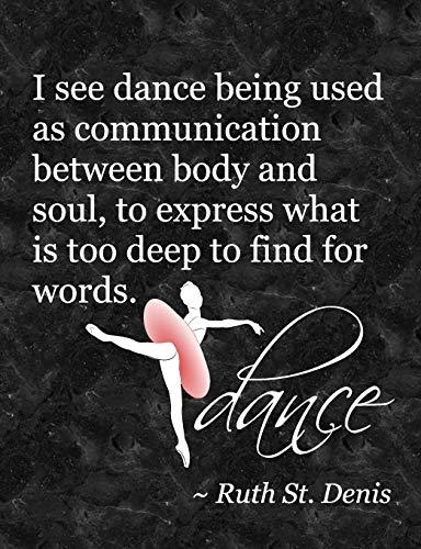 Ballet Attitude Dance Quote: 7.44' x 9.69
