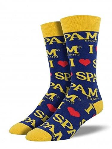 socksmith-spam-blue-mens-graphic-crew-calze