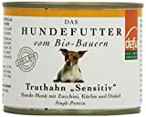 defu Bio Nassfutter für Hunde Truthahn 200 g, 12er Pack (12 x 200 g)