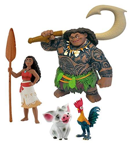 Bullyland 13181 - Spielfigurenset - Walt Disney Vaiana 4 teilig