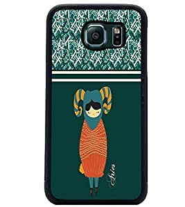PrintDhaba Zodiac Aries D-2746 Back Case Cover for SAMSUNG GALAXY S6 (Multi-Coloured)