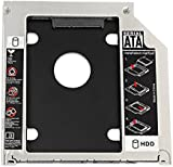 """Hard Drive Caddy Tray, Proster 2nd HDD/ SSD Kit Compatible with 2.5"""" / 9.5mm SATA HDD/ SSD, 2nd HDD Adapter for Apple MacBook Pro Unibody 13 15 17 SuperDrive DVD Drive"""