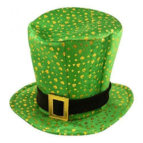 St Patricks Day Neuheit Kostüm Kobold Kleeblatt Muster Hat