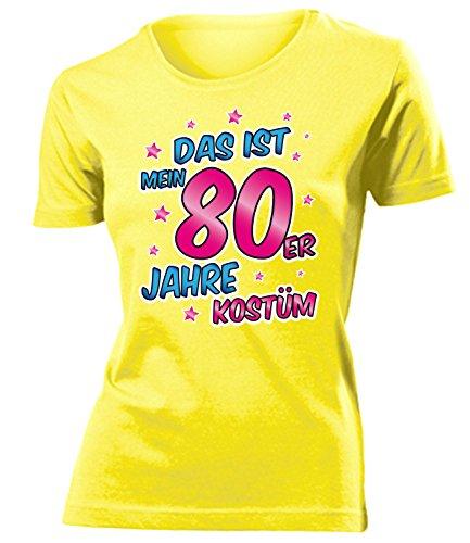 Erwachsene Kostüm Für Er Mann - 80er Jahre Kostüm Frauen T-Shirt Karneval Fasching Motto Schlager Party Geschenke Schlagertshirt Kleid Kleidung Schlagerhemd Schlagerfanartikel