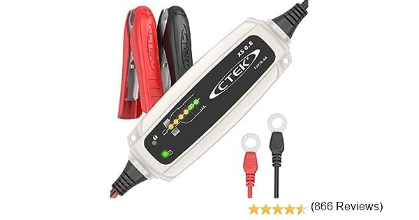 12V Per il mantenimento della carica di batterie da moto o altri batterie di veicoli di piccole dimensioni Presa Europea CTEK XS 0.8 Mantenitore di carica automatico 0.8 Amp