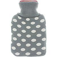 Wärmflasche mit Strickbezug DOTS grey für ca. 1 Liter preisvergleich bei billige-tabletten.eu
