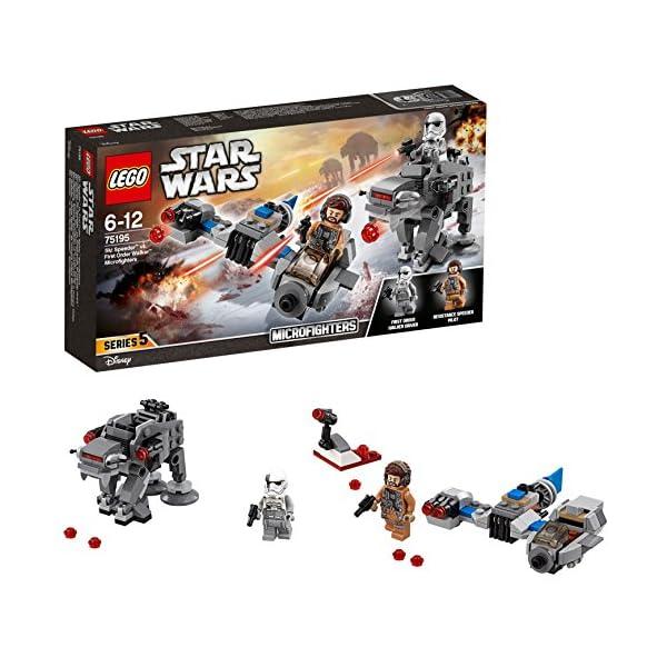 LEGO- Star Wars TMSki Speeder conMicrofighter First Order Walker, Multicolore, 75195 2 spesavip
