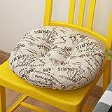 XMZDDZ Gepolsterte Tatami Stuhl-Pad,Sitz Sitzkissen Stuhl Kissen Für Esszimmerstühle Car Sitz Kissen Boden Yoga Mat-H Durchmesser40cm(16inch)