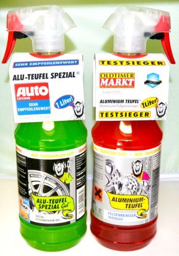 Tuga Profi Felgenreiniger 2-er Set Alu-Teufel Spezial und Aluminium Teufel. Für Winter- und Sommerr