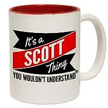 123t Tasses New C'est un Scott Thing vous n'aurait pas comprendre Slogan Tasse en céramique, Red