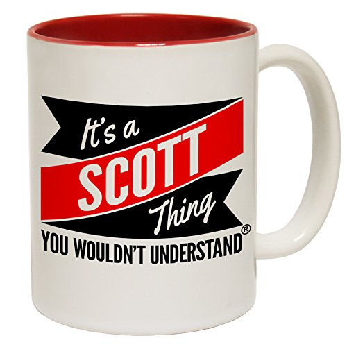 123t Tasses New C'est un Scott Thing vous n'aurait pas comprendre Slogan Tasse en céramique, Red, Divers