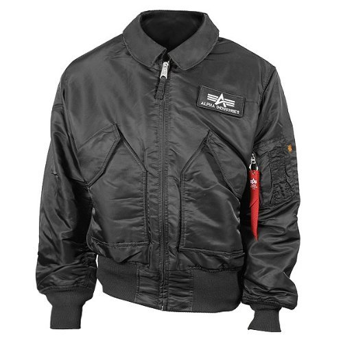 Alpha Industries CWU 45 Winterjacke Black, Black, (Alpha-track)
