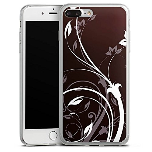 Apple iPhone 8 Plus Slim Case Silikon Hülle Schutzhülle Blumen Ranken Ornamente Silikon Slim Case transparent