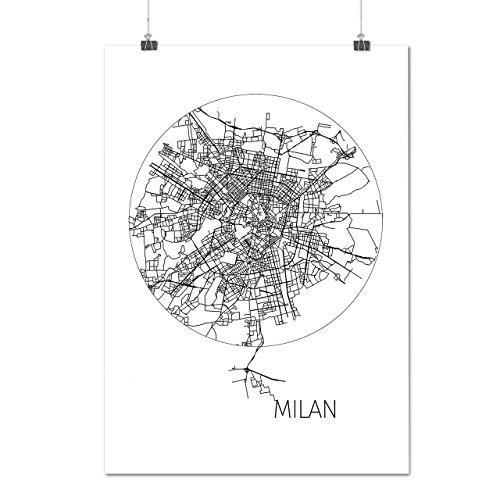 city-map-metropolis-milan-europe-view-matte-glossy-poster-a3-42cm-x-30cm-wellcoda