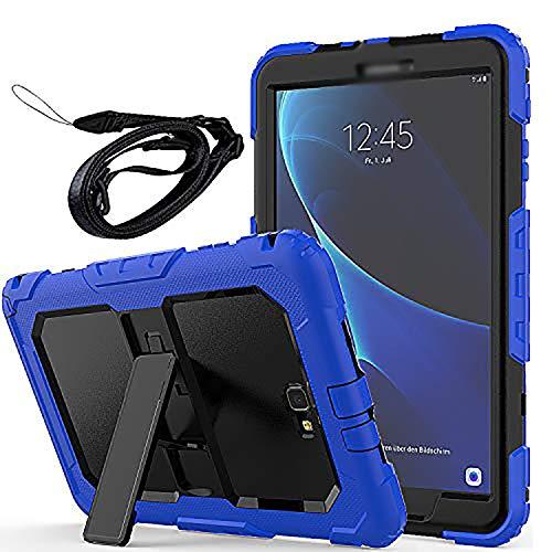 Newseego Coque Samsung Galaxy Tab A6 10.1 '', Étui de Protection Antichoc Corps Entier avec des Bretelles Kickstand Robuste pour Tablette Galaxy Tab A 10.1 '' (SM-T580 / T585) - Bleu
