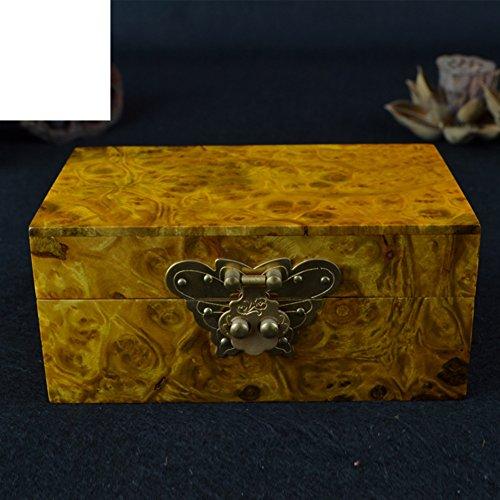Casella di gioielli d'oro intagliato Zhang/Gift box/jewel box/cento treasure box/ornamenti di legno artigianali/regalo di nozze-A - Artigianale Di Vetro Ornamento