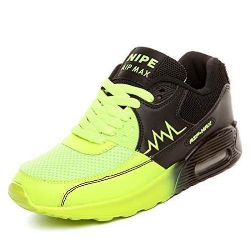 Men's Increasing Lace up Breathable Running Shoes yellow