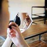 ROSENICE Specchio + termometro esagonale Touch LED notte luce digitale allarme Clock(Silver)