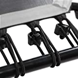 SportPlus Gummiseile-Set Fitness Trampoline, 36 Bungee-Seile inkl. Befestigungsclips, Härtegrad Hart, Nutzergewicht ca. 90 bis 130 kg, Schwarz