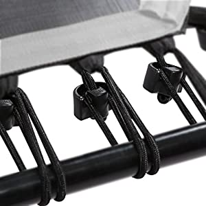 SportPlus Gummiseile-Set Fitness Trampoline, 36 Bungee-Seile inkl. Befestigungsclips, Diverse Härtegrade für unterschiedliche Benutzergewichte