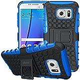ykooe Handys Schutzhülle Ständer für Samsung Galaxy S7 Edge Hülle 5.2 Zoll Blua