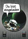 12 Einladungskarten Kindergeburtstag Jungen Space Jungs Astronaut Geburtstagseinladungen Einladungen Geburtstags-Party Kartenset