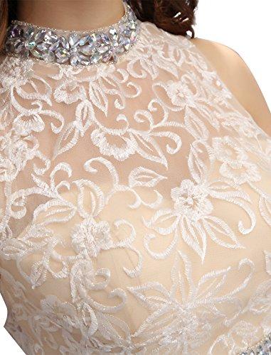 Dressystar Robe femme, Robe de bal courte 2 pièces, à broderie fleur,aux strass, en Tulle Noir